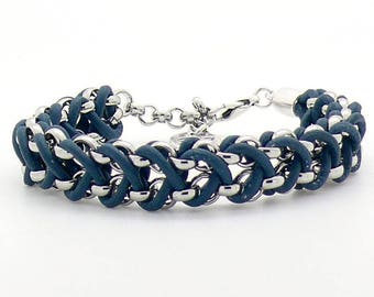 Bracelet braided leather bracelet jasserron dqmetaal ladies bracelet mens bracelet