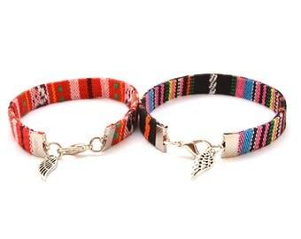 Friendship Bracelet, Bohemian bracelet, Feather Boho bracelet, Ethnic Bracelet, Boho jewelry, Couple Bracelet, Hippie Bracelet, Feather