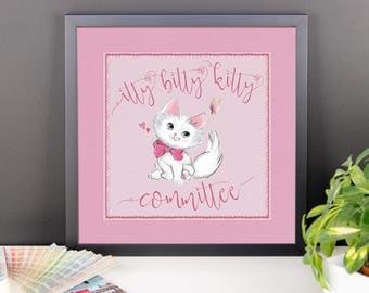 Itty Bitty Kitty Committee Framed poster
