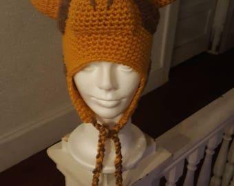 Children's and Adult giraffe hat