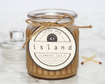 coffee shop scented soy candle