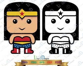 Cute Wonder Woman Svg Eps Png Pdf Dxf wonder woman superhero svg wonder woman clipart cute wonder woman ornament wonder woman party cut file