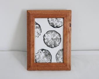 4 x 6 Lemon Print in Brown Picture Frame