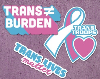 Trans Visibility Stickers