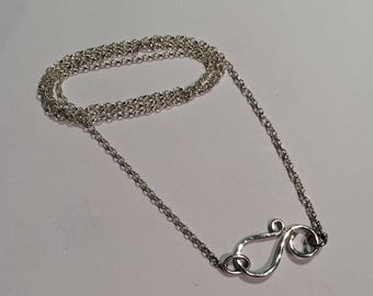 Silver Belcher Chain with Hand-made Silver Clasp