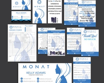 Monat Marketing kit, Custom Monat Business Card, Monat Hair Care Printable Cards, Monat Marketing Package, Monat Flyer, Printable Card MN10