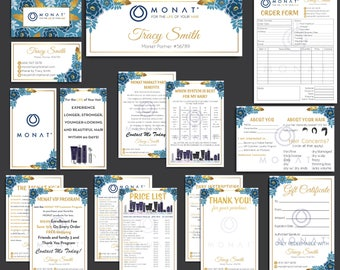 Monat Marketing Kit, Monat Bundle, Custom Monat Business Card, Monat Printable Cards, Monat Marketing Package, Monat Flyer, Monat Cards MN23