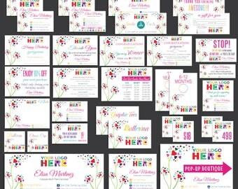FULL Dot Dot Smile Marketing Kit, Dot Dot Smile Bundle, Polka Heart DDS Marketing Kit, Marketing Set, Personalized Card, Printable Items DD7