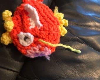 Crocheted magikarp