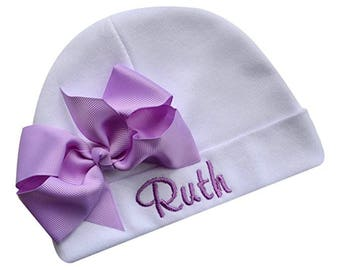 Personalized Embroidered Baby Girl Hat