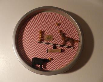 Clock frame CIRCUS DOGS