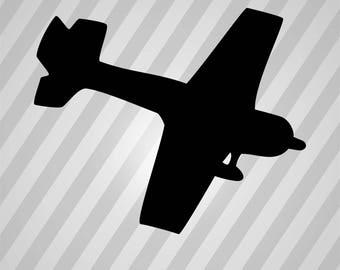 Plane Silhouette - Svg Dxf Eps Silhouette Rld Rdworks Pdf Png Ai Files Digital Cut Vector File Svg File Cricut Laser Cut