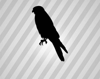 Bird Falcon Silhouette Birds - Svg Dxf Eps Silhouette Rld RDWorks Pdf Png AI Files Digital Cut Vector File Svg File Cricut Laser Cut