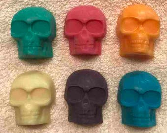 Small Glycerin Skull Soaps, set of six