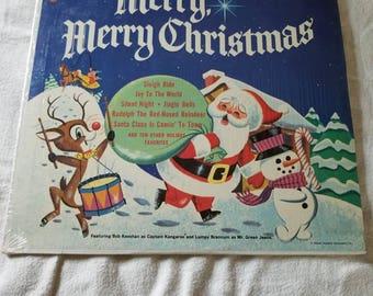 RARE!! 1964 Captain kangaroos merry merry christmas lp album