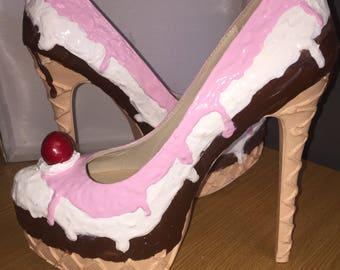Neapolitan-ice cream heels-ice cream-prom-wedding