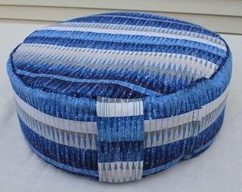 Zafu sitting meditation pillow/cushion for yoga or zen relaxation buckwheat hull