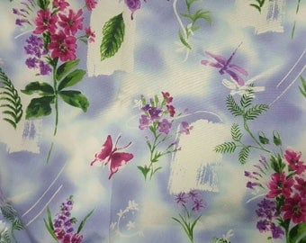 Scrub-Crafts botanical-lavender-butterflies-fabric-2-yds-60-wide-100-cotton sold by the yard.