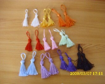 set of 20 PomPoms of 5.5 cm in length for the customizations of your creations