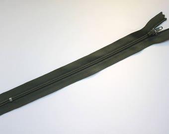 Zipper 20 cm - military green