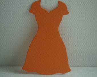"""Cutout dress """"V"""" for scrapbooking and card orange drawing paper"""