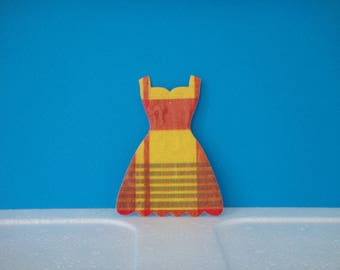 Cutout neckline dress madras for scrapbooking and card