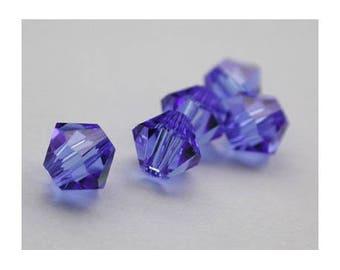 4 mm: 8 Swarovski Crystal bicone bead Sapphire