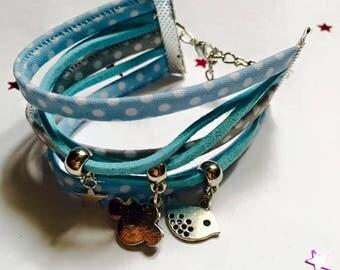 Jewelry Ribbon cuff Bracelets and charms