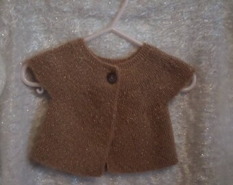 Baby girl short sleeve knit Cardigan