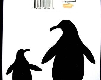 NEW STENCIL ROSE 17 * 12cm: penguins