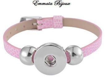 Snap leather bracelet