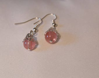 Earrings with fine stones