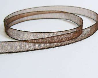 5 Metters Ribbon Organza Brown 7mm