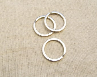 4 rings worn key 25mm - silver A22081