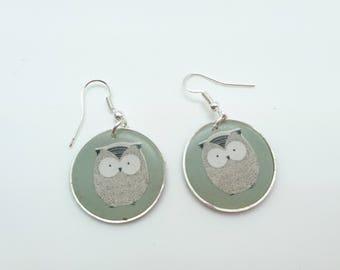 OWL polymer clay earrings