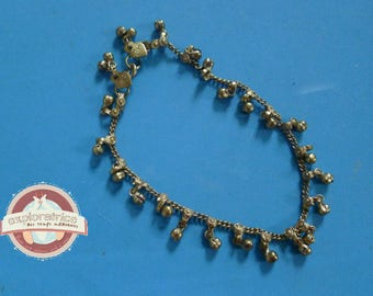 Indian anklet gold Bell 26cm