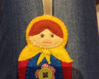 felt doll matroska finger puppet