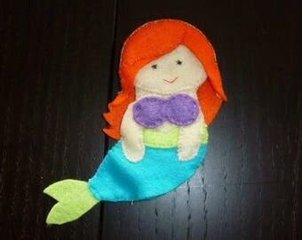 ariel Mermaid felt finger puppet
