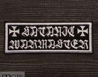 Patch Satanic Warmaster logo Black Metal