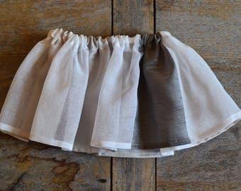 Baby girl veil gathered skirt