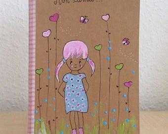 Children book - notebook handpainted - notebook - sketchbook holiday memories