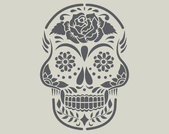 Mexican head stencil. Mexican skull (ref 786)