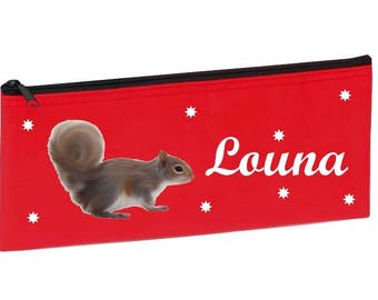 Red squirrel personalized with name package