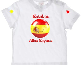 tee shirt baby go España personalized with name