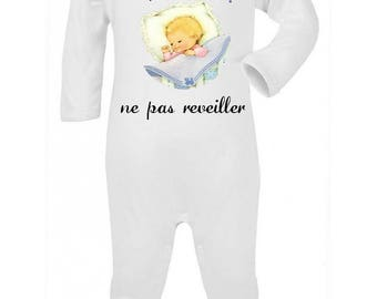 Baby Pajamas do not wake up personalized with name