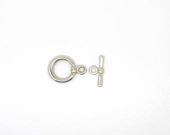 Toggle, smooth, silver clasp