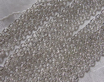 2 meters notched cable 3x2mm clear silver metal link chain * C64