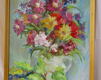 Spring Flowers Original New Art Impressionism Spring Still life Flowers Oil on canvas