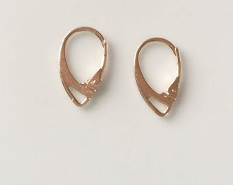 2 stud earring rose gold plated metal