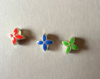 "Beautiful ""flower"" enamel bead"
